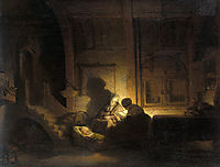 Theholyfamilynight, rembrandt