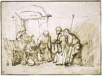 Jacob shown the Bloodstained Coat of Joseph, 1657, rembrandt