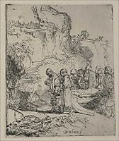 Jesus Christ s Body Carried to the Tomb, 1645, rembrandt