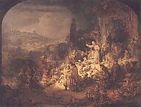 John the Baptist Preaching, 1635, rembrandt