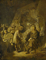 Joseph Telling his Dreams, 1633, rembrandt