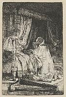 King David at prayer, 1652, rembrandt