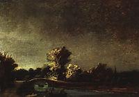 Landscape with a Stone Bridge, rembrandt