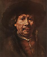 Little Self-portrait, 1658, rembrandt