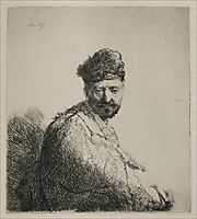 A Man with a Short Beard and Embroidered Cloak, 1631, rembrandt