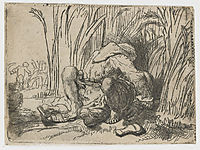 The monk in the cornfield, 1646, rembrandt