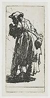 Old beggar woman with a gourd, 1629, rembrandt