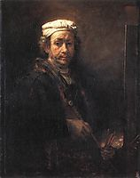 Portrait of the Artist at His Easel, 1660, rembrandt