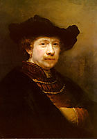 Portrait Of The Artist In A Flat Cap, 1642, rembrandt