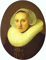 Portrait of Cornelia Pronck, Wife of Albert Cuyper, at the age of 33, 1633, rembrandt