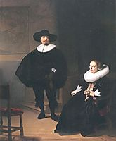 Portrait of a Couple in an Interior, rembrandt