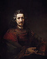Portrait of a Man with a Magnifying Glass, 1662, rembrandt