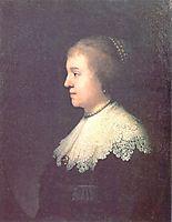 Portrait of Princess Amalia van Solms, 1632, rembrandt