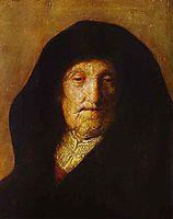 Portrait of Rembrandt-s Mother, rembrandt
