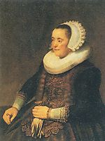 Portrait of a Seated Woman, rembrandt