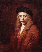 Portrait of a Young Man, 1663, rembrandt