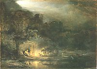 Rest on the Flight to Egypt, 1647, rembrandt