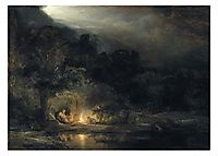The Rest of the Flight into Egypt, 1647, rembrandt