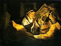 The Rich Man from the Parable, 1627, rembrandt