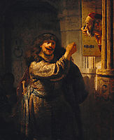 Samson Threatening His Father-in-Law, 1635, rembrandt