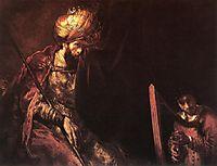 Saul and David, 1655-1660, rembrandt