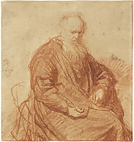 Seated Old Man, 1630, rembrandt