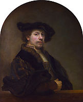 Self-portrait at the Age of 34, 1640, rembrandt