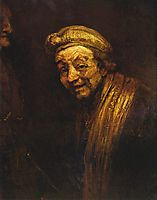 Self-portrait as Zeuxis Laughing, 1662, rembrandt