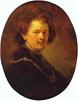 Self-portrait Bareheaded, rembrandt