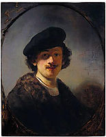 Self-portrait with Shaded Eyes, 1634, rembrandt