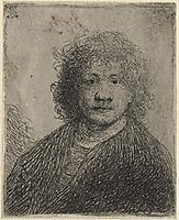 Self-portrait with a broad nose, rembrandt