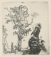 Sketch of a Tree, 1638, rembrandt