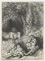 The sleeping herdsman, 1644, rembrandt
