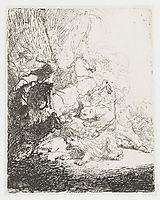 The small lion hunt with two lions, 1629, rembrandt