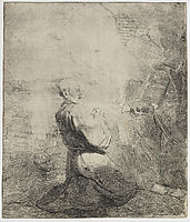 St. Jerome kneeling, 1630, rembrandt