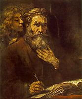 St. Matthew and The Angel, 1661, rembrandt