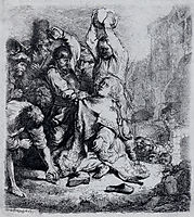 The Stoning Of Saint Stephen, 1635, rembrandt