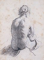 A Study of a Female Nude Seen from the Back, rembrandt