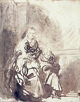 A Study for The Great Jewish Bride , rembrandt