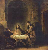 Supper at Emmaus, 1648, rembrandt