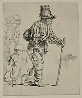 Three Peasants Travelling, rembrandt