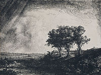 The Three Trees, 1643, rembrandt