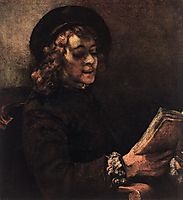 Titus Reading, rembrandt