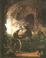 Tobias Cured With His Son, 1636, rembrandt