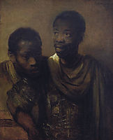 Two Negroes, rembrandt