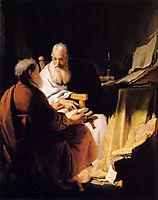 Two Old Men Disputing, rembrandt