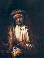 The Virgin of Sorrow, rembrandt