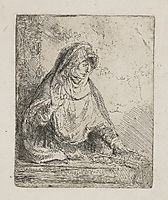The Virgin with the instruments of the passion, rembrandt