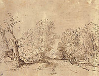 A Wooded Road, rembrandt