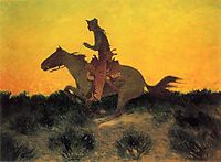 Against the Sunset, 1906, remington
